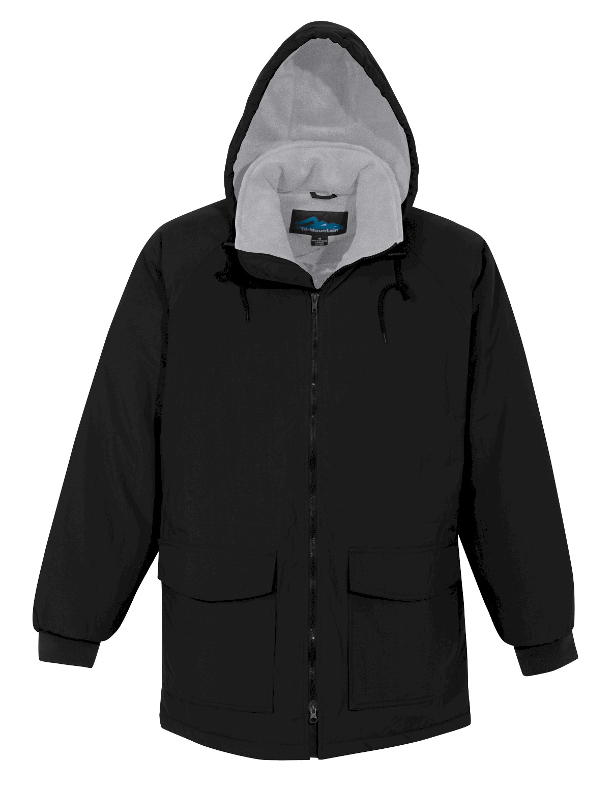 #319904. 5XL BIG. BLACK Retail $ 155.00 Outerwear by TRI MOUNTAIN. ZIP-OUT HOODED PARKA <font face=arial size=2><BR>Special Order Item.</font> <B>Item stocked by Manufacturer.  Allow up to 3 weeks for delivery.</B>