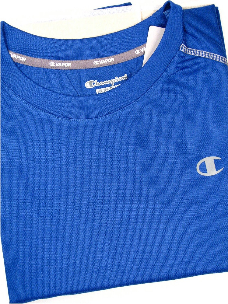 #187727. XL TALL. BLUE Retail $  36.00 Dri Power Crew by CHAMPION. VAPOR PANEL CREW Whs A:  1 FW:  1