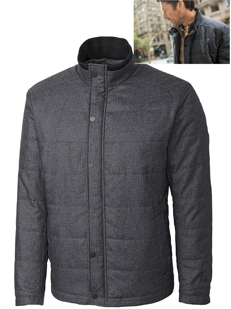 #014845. 3XL BIG. GREY Retail $ 395.00 Outerwear by CUTTER BUCK. VAUGHN JACKET Whs A:  2