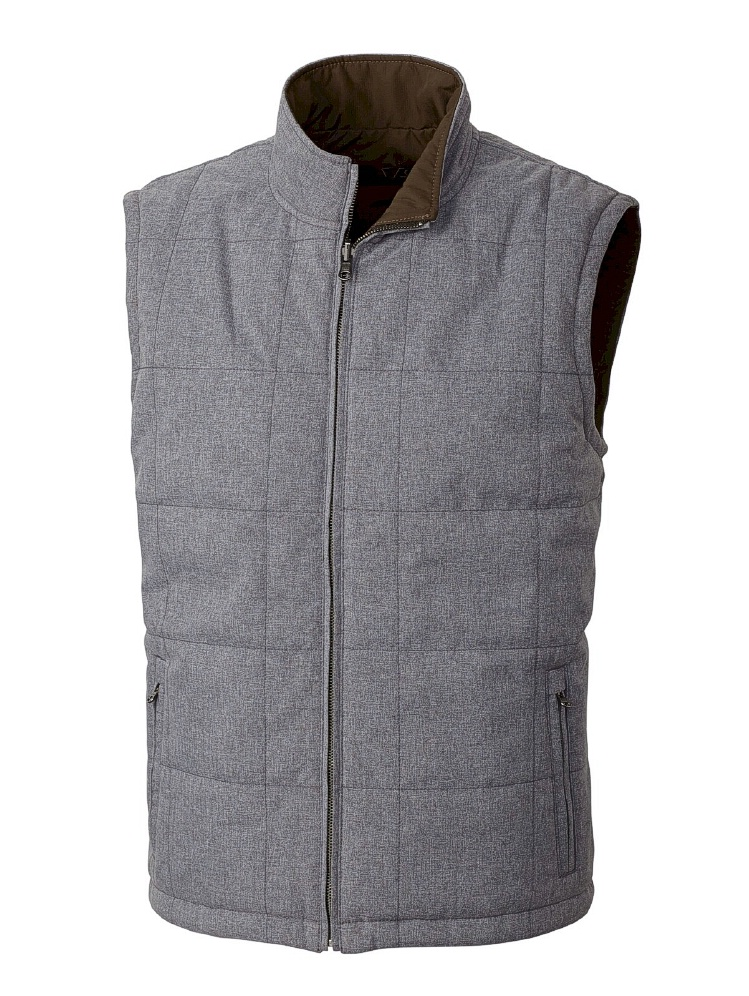 #288736. 3XL BIG. HT GREY Retail $ 198.00 Outerwear by CUTTER BUCK. REVERISBLE VEST Whs A:  2