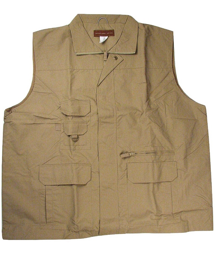 #164324. 3XL TALL. KHAKI Retail $  70.00 Outerwear by WOOD LAND TRAIL. SLEEVELESS VEST Whs A:  2