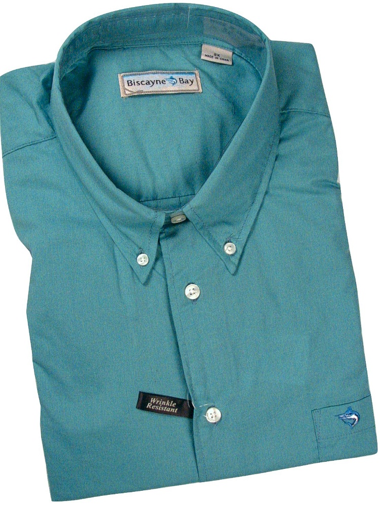 #139249. 4XL BIG. FOAM Retail $  55.00 Long Sleeve Cotton by BISCAYNE BAY. SOLID WITH EMBROIDERY Whs A:  1