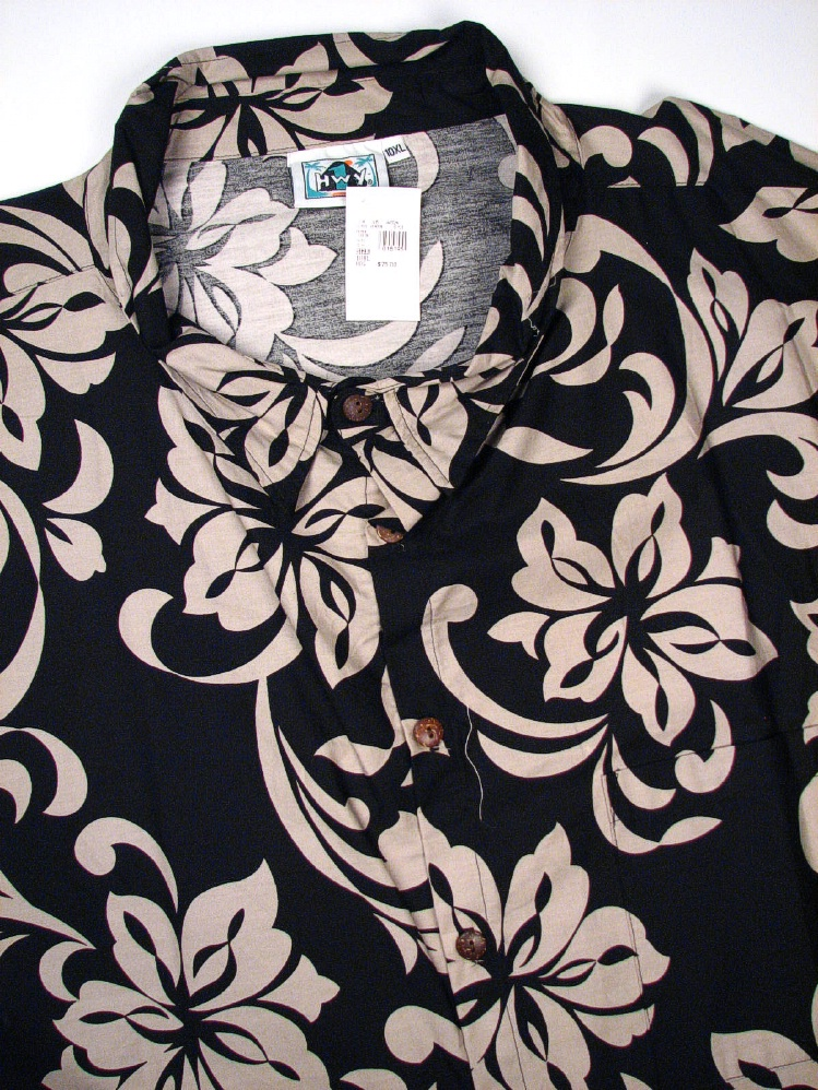 #127505. 8XL BIG. AQUA Retail $  75.00 Short Sleeve Tropical by HIGHWAY ONE. TROPICAL PRINT Whs A:  1