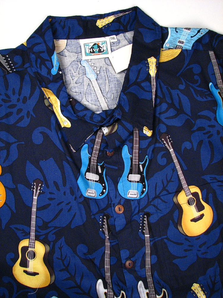 #018715. 7XL BIG. NAVY Retail $  75.00 Short Sleeve Tropical by HIGHWAY ONE. TROPICAL PRINT Whs A:  1