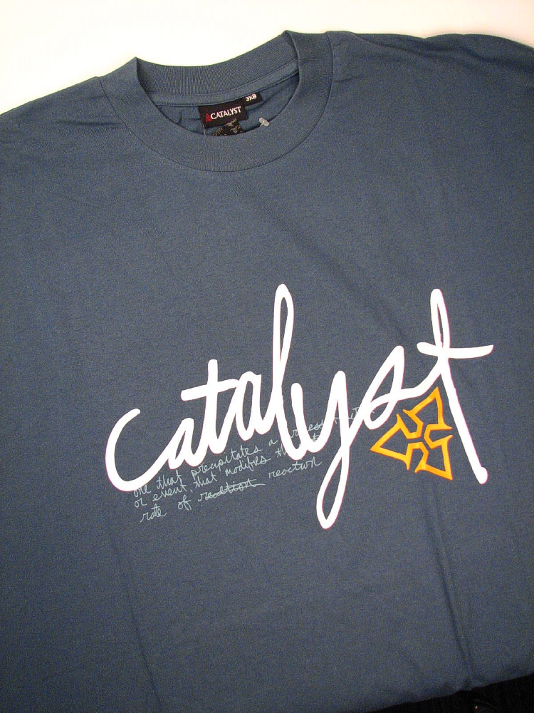 #007922. 4XL BIG. BLUE Retail $  32.00 Short Slv Graphic Tee by CATALYST. LOGO SHORT SLV TEE Whs A: 15