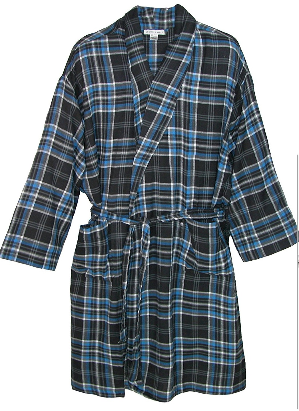#351292. 3XL TALL. MULTI Retail $  49.00 Robes by GEOFFREY BEENE. FLANNEL KIMONO ROBE Whs A: 18