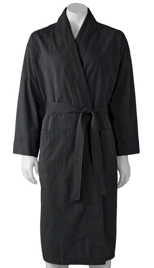 #080947. 10XL BIG. BLACK Retail $  48.00 Robes by HANES. WOVEN SHAWL ROBE Whs A:  3 FW:  1