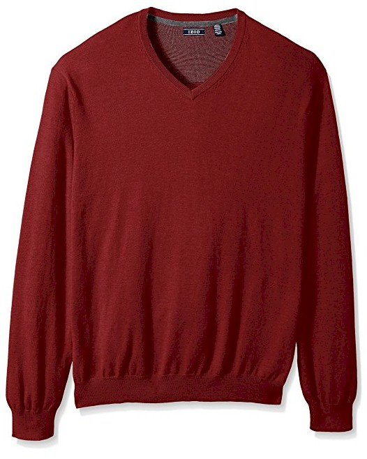 #355920. 4XL TALL. RED Retail $  65.00 Sweaters by IZOD. FIELDHOUSE VNECK LS Whs A:  4