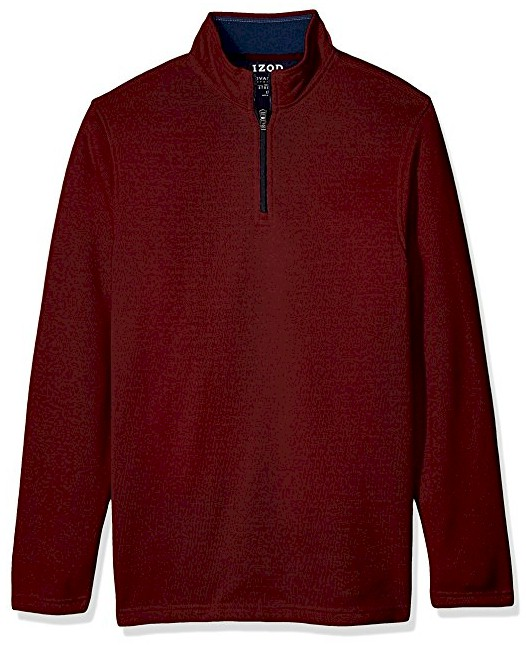 #237330. 2XL BIG. RED Retail $  80.00 Sweaters by IZOD. 1/4 ZIP SWEATER Whs A:  2