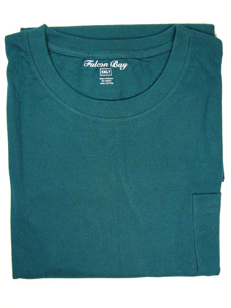 #010665. 6XL TALL. FOREST TAGLESS POCKET TEE Short Sleeve Tee by FALCON BAY. Whs A:  3 FBA:  3