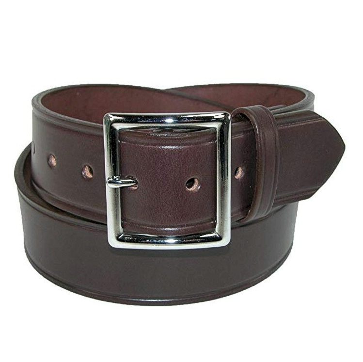 #164661. 44 . BROWN Retail $  38.00 Belts by BOSTON LEATHER. 1.75 GARRISON PLAIN Whs A:  1