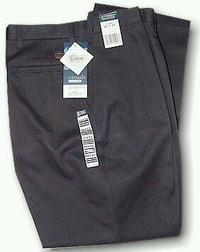 #139256. 48 32. NAVY Retail $  40.00 Cotton Casual Pants by WRANGLER. STAIN RESIST PLEAT Whs A:  1