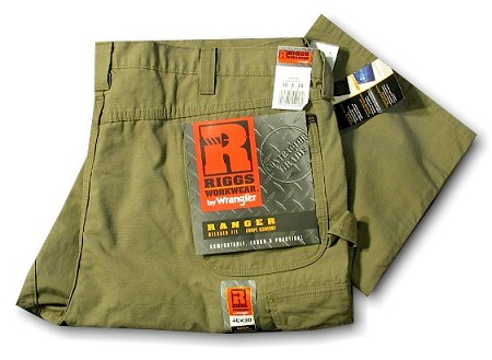 #164142. 46 30. BROWN Retail $  56.00 Cotton Jean by WRANGLER. RIP STOP PANT Whs B:  1