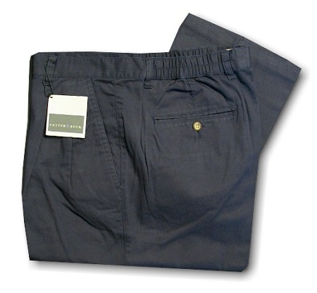 #102991. 36 LONG. NAVY Retail $  65.00 Cotton Casual Pants by CUTTER BUCK. FAIRWAY PANT   <br><b>This item requires hemming.