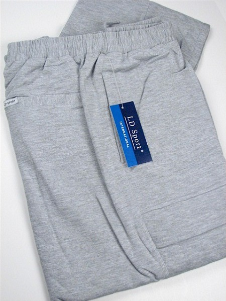 #071699. 3XL BIG. GREY Retail $  55.00 French Fleece Pants by LD SPORT. FR TERRY CARGO PANT Whs A:  2