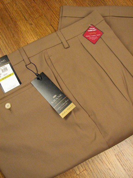 #082136. 36 38. MUSHROOM Retail $  72.00 Dress Pants by SAVANE. LUSTER GAB COMFORT Whs A:  1