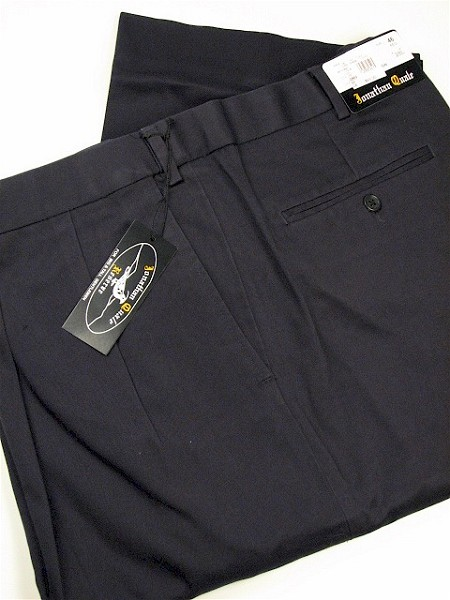 #129668. 52 32. NAVY Retail $  74.00 Cotton Casual Pants by JONATHAN QUALE. PLEAT XPAND WRNKLFREE Whs A:  1
