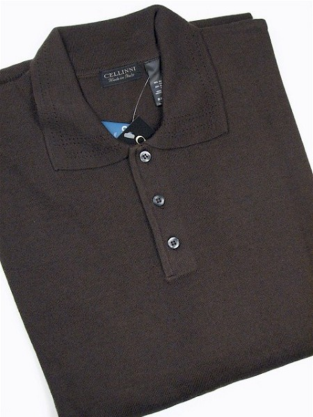 #143376. 2XL TALL. BROWN Retail $  69.00 Sweaters by CELLINI. POLO MERINO BLEND