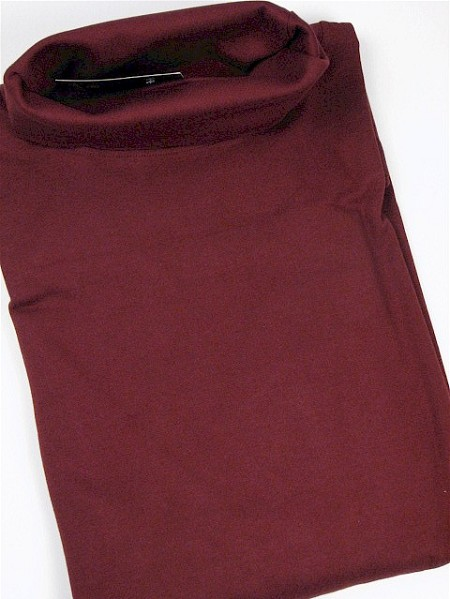 #155979. 2XL BIG. BURGUNDY Retail $  32.50 Long Sleeve by CTTON TRADERS. INTERLK TURTLE SOLID Whs A:  3