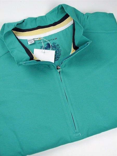 #009803. 2XL BIG. GREEN Retail $ 105.00 Long Sleeve by CUTTER BUCK. GOLD COAST ZIP Whs A:  2