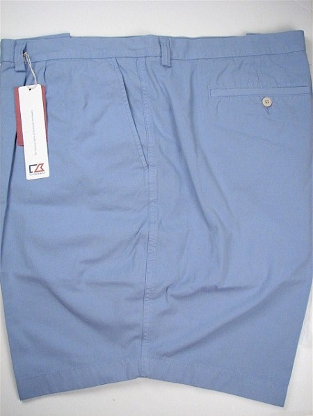 #096137. 58 . BLUE Retail $  92.00 Shorts by CUTTER BUCK. EASTLAKE SOLID PLEAT Whs A:  2