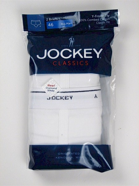 #171805. 58 . WHITE Retail $  22.50 Briefs & Boxers by JOCKEY. CLASSIC BRIEF BIG Whs A:  2