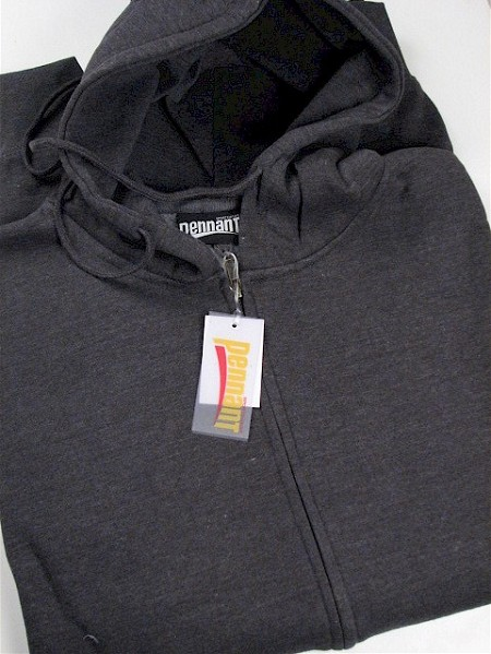 #163693. 3XL BIG. CHARCOAL Retail $  44.00 Athletic Crew by WHITE MOUNTAIN. FULL ZIP HOODY Whs A: 10