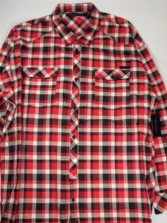 #141543. 5XL BIG. RED Retail $  78.00 Long Sleeve Cotton by SEAN JOHN. HERRINGBONE CHECK