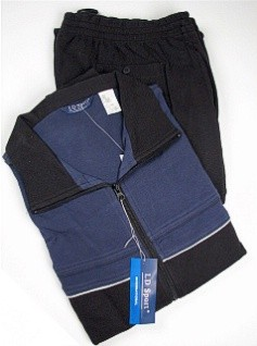 #186618. 4XL TALL. CADET Retail $  90.00 Jog Set by LD SPORT. COT/PLY JOG SUIT PIPG Whs A:  3