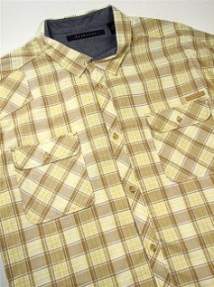 #183271. 3XL TALL. KELP Retail $  68.00 Short Sleeve Updated by SEAN JOHN. 2-POCKET TONAL CHECK Whs A:  2