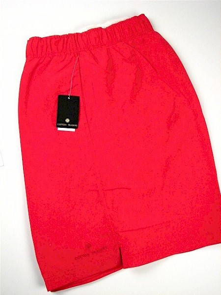#044154. 6XL BIG. RED Retail $  46.00 Swim Wear by CTTON TRADERS. MICROFIBER TRUNK Whs A:  5