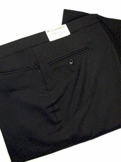 #036270. 58 REG. BLACK Retail $  95.00 Dress Pants by ASCOTT BROWNE. BELT-LESS PLY TOP PKT Whs A:  1   <br><b>This item requires hemming.