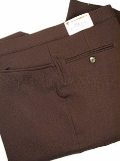 #011237. 60 REG. BROWN Retail $  95.00 Dress Pants by ASCOTT BROWNE. BELT-LESS PLY TOP PKT FW:  1,  <br><b>This item requires hemming.