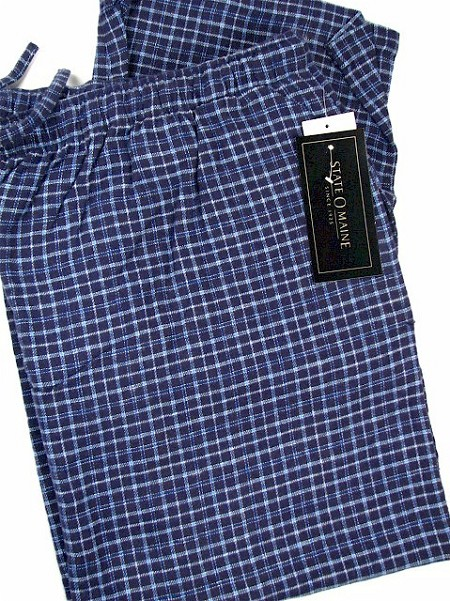 #024356. 3XL BIG. NAVY Retail $  29.00 Flannel Loungepants by STATE-O-MAINE. FLANNEL PANT Whs A:  1