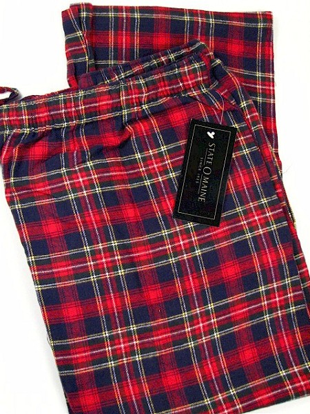 #151540. 4XL BIG. RED Retail $  29.00 Flannel Loungepants by STATE-O-MAINE. FLANNEL PANT Whs A: 12