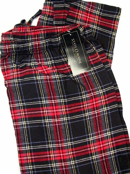 #020824. 3XL TALL. BLACK Retail $  29.00 Flannel Loungepants by STATE-O-MAINE. FLANNEL PANT Whs A:  3