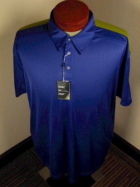 #021144. 2XL TALL. MARINE Retail $  70.00 Short Sleeve Stay Dry by CALLAWAY GOLF. TC POLO W VENTILATION Whs A:  2