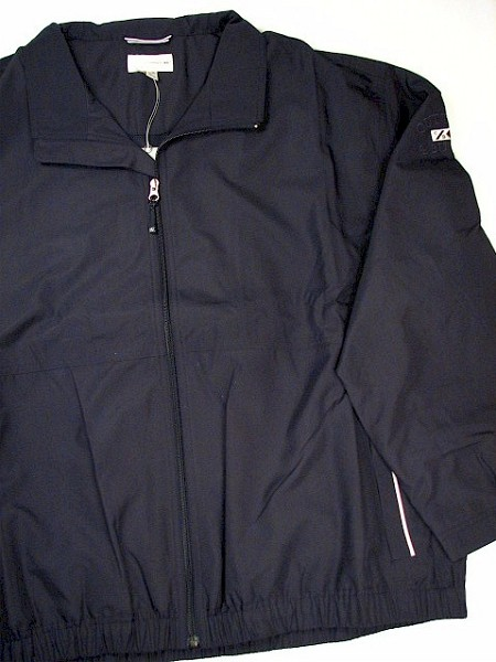 #191988. 2XL BIG. NAVY Retail $ 110.00 Outerwear by CUTTER BUCK. WEATHERTEC BAINBRIDGE Whs A:  2