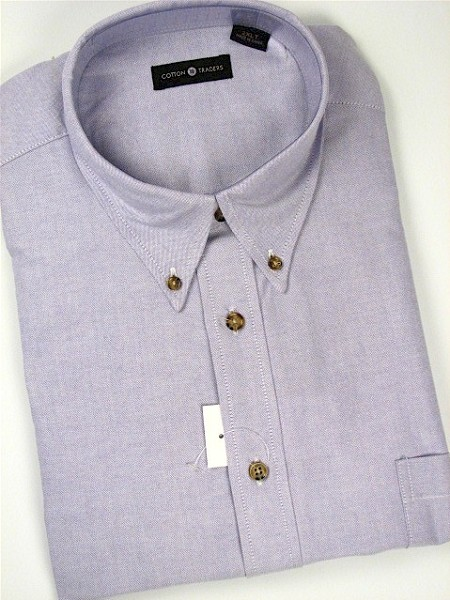 #192729. 3XL TALL. PLUM Retail $  55.00 Long Sleeve Cotton by CTTON TRADERS. LONG SLV SOLID OXFORD Whs A: 10