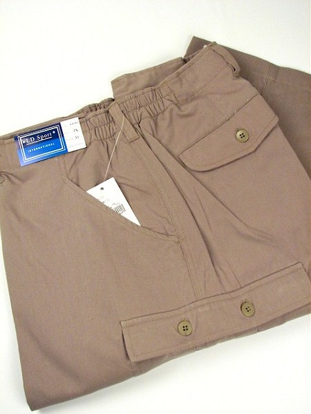 #184469. 2XL BIG. KHAKI Retail $  59.00 Cotton Casual Pants by LD SPORT. CARGO PLAIN SIDE-ELAS Whs A:  1