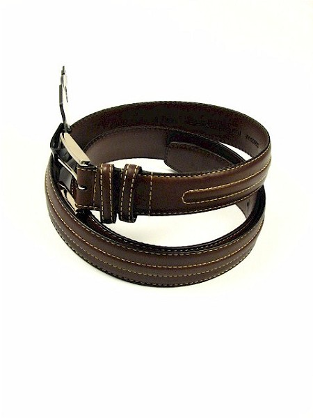 #095651. 46 . BROWN Retail $  34.00 Belts by OUTFITTER. 35MM NUBUC W STITCH Whs A:  2