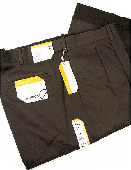 #117735. 60 32. LODEN Retail $  72.00 Cotton Casual Pants by SAVANE. PLEAT NO-IRON TWILL Whs A:  1