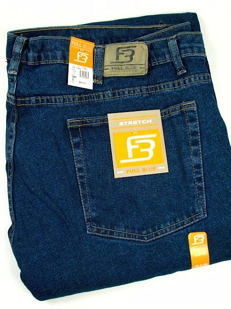 #105936. 46 30. BLUE Retail $  55.00 Stretch Jean by FULL BLUE. STRETCH DENIM Whs A:  3 FBA:  2