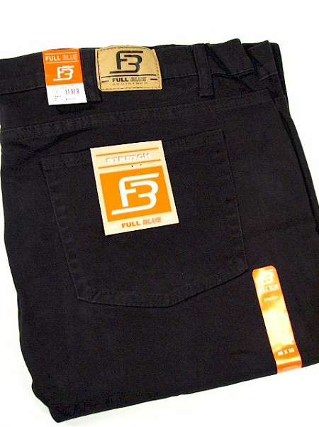 #125772. 60 30. BLACK Retail $  55.00 Stretch Jean by FULL BLUE. STRETCH DENIM Whs A:  1 FBA:  2