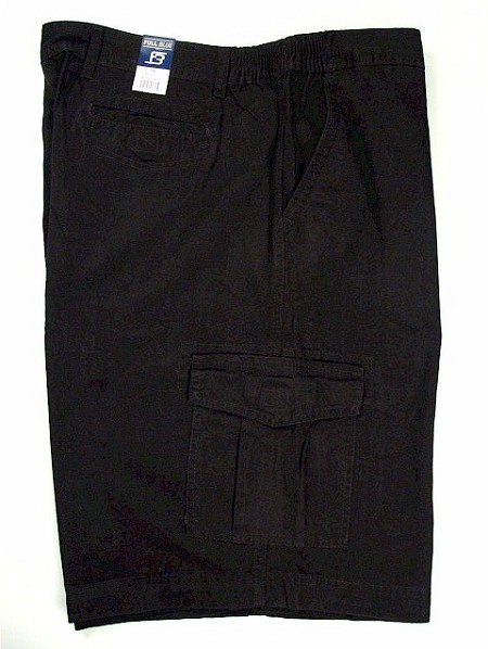 #053981. 48 . BLACK Retail $  50.00 Shorts by FULL BLUE. SIDE-ELASTIC CARGO Whs A:  5