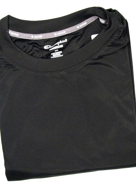 #130176. 2XL TALL. BLACK Retail $  36.00 Dri Power Crew by CHAMPION. VAPOR DRY TECH CREW Whs A:  2