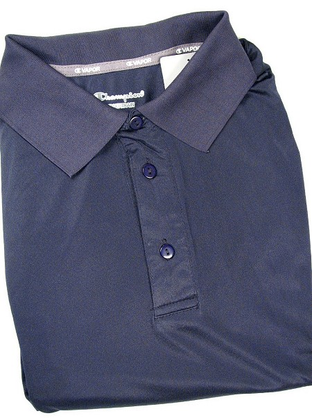 #129280. 2XL TALL. NAVY Retail $  38.00 Dri Power Polo by CHAMPION. VAPOR DRY PERF POLO Whs A:  1