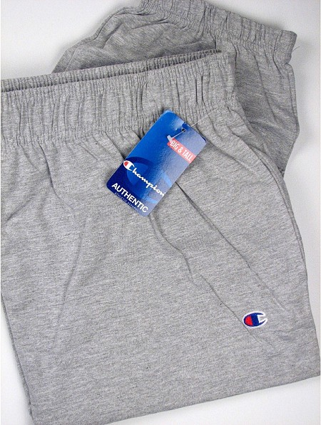 #012388. L TALL. HEATHER Retail $  34.00 Jersey Knit Pants by CHAMPION. JERSEY PANT CLSD BOTM Whs A:  1 FBA:  3