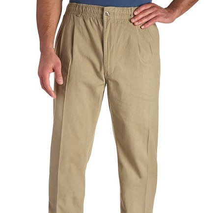 #066956. 52 . KHAKI VINTAGE TWILL PANT Cotton Casual Pants by CREEKWOOD. <font face=arial size=2><BR>Special Order Item.</font> <B>Item stocked by Creekwood.  Allow an extra 5 days for handling.</B>