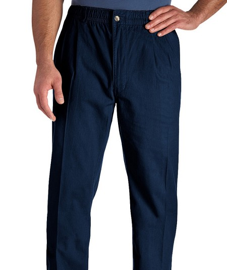#085265. 60 . NAVY VINTAGE TWILL PANT Cotton Casual Pants by CREEKWOOD. <font face=arial size=2><BR>Special Order Item.</font> <B>Item stocked by Creekwood.  Allow an extra 5 days for handling.</B>